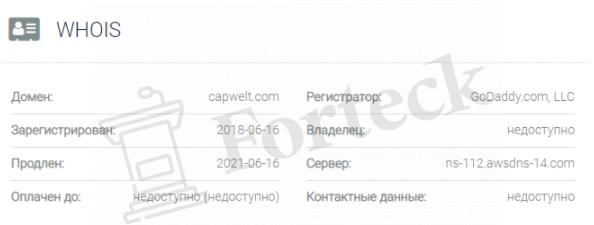 Capwelt – домен
