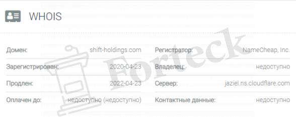 Shift Holdings - домен