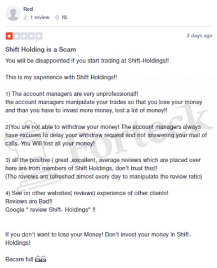 Мнение клиентов об Shift Holdings