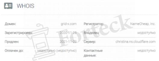 обзор официального сайта Grid X