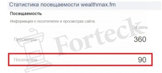 статистика посещаемости с WealthMax FM