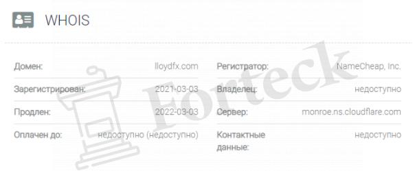 обзор официального сайта LloydFX
