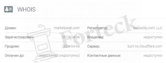 обзор официального сайта MarketPeak