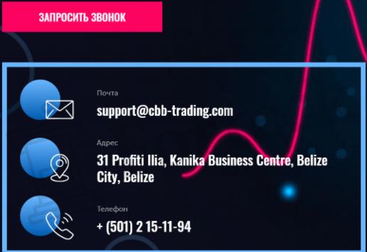 Связь с CBB-Trading