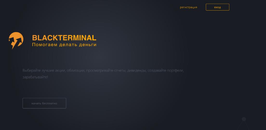 BlackTerminal главная