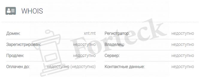 обзора официального сайта XNT LTD