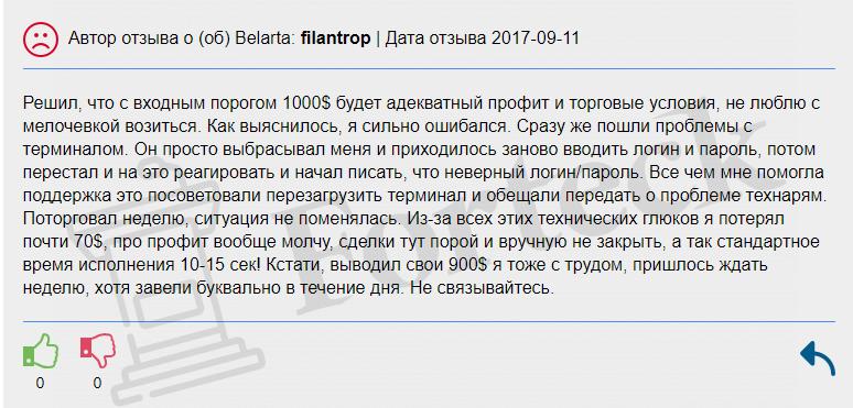 отзывы о BELARTA