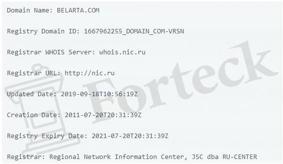 обзор официального сайта BELARTA