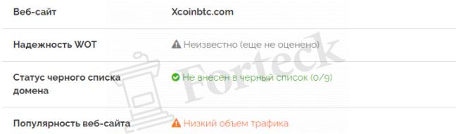 нет отзывов о XCoinBTC
