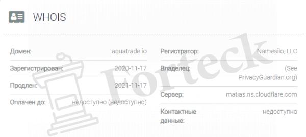 обзор официального сайта Aquatrade