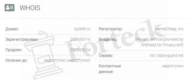 обзор официального сайта Bulleth