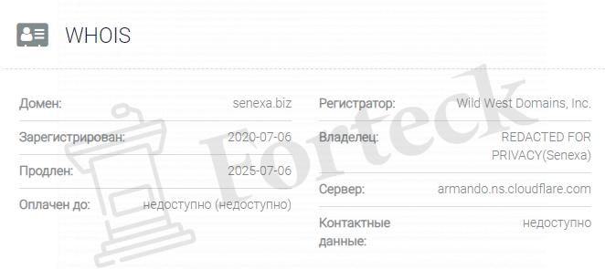 обзор официального сайта Senexa