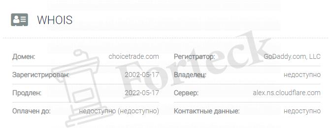 обзор официального сайта ChoiceTrade