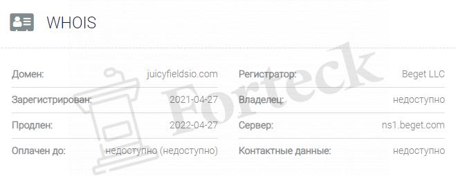 обзор официального сайта Juicyfieldsio