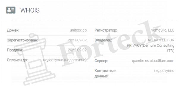 домен Uniteex Inc