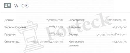 обзор официального сайта Tryton Pro