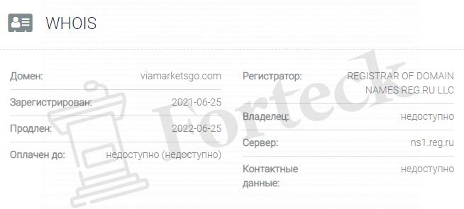 обзор официального сайта Viamarketsgo